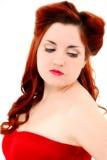 Ретро тип волос половинное Updo сбора винограда и составляет Стоковая Фотография RF