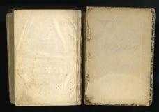 ретро тип обрамите флористический орнамент на страницах старых книг Стоковое фото RF