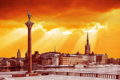 ретро тип stockholm Стоковое Фото