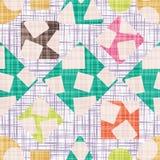 Ретро ткань дизайна с геометрическими формами Стоковые Изображения