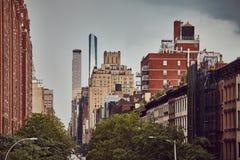 Ретро тонизированное изображение Нью-Йорка стоковые изображения