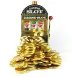 Ретро торговый автомат с 777 и серии золота Стоковое Фото