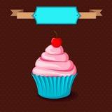 Ретро торт чашки Стоковое Изображение