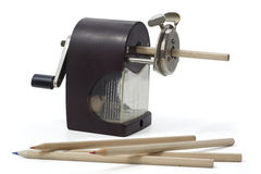 Ретро точилка для карандашей стоковые фотографии rf