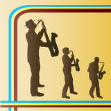 ретро трио саксофона Иллюстрация вектора