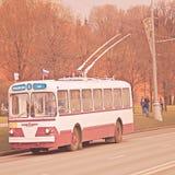 Ретро троллейбус Стоковая Фотография