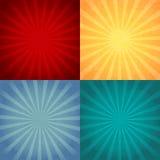 Ретро установленные предпосылки Винтажные картины Стоковое Изображение