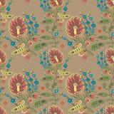 Ретро флористическая безшовная картина Стоковые Изображения RF