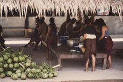 Ретро фото для неопознанных традиционных тайских людей в Таиланде Стоковые Фотографии RF