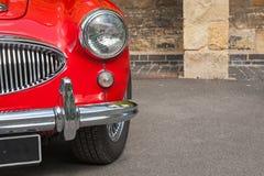 Ретро фронт автомобиля - панель Стоковое Изображение