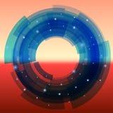 Ретро-футуристическая предпосылка при поделенная на сегменты синь Стоковое Изображение RF