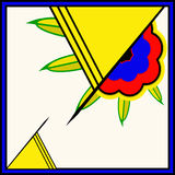 Ретро флористическая рогулька бесплатная иллюстрация