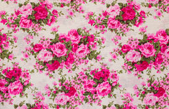 Ретро флористическая ткань Стоковое Фото