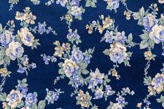 Ретро флористическая ткань Стоковое Изображение RF