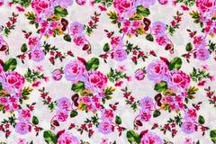 Ретро флористическая ткань Стоковая Фотография RF