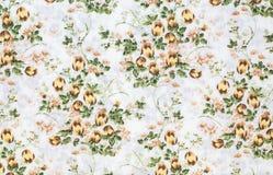 Ретро флористическая ткань Стоковые Изображения RF