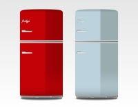 Ретро холодильники Стоковое Изображение RF