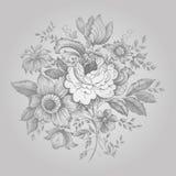 ретро цветка богато украшенный Стоковые Фотографии RF