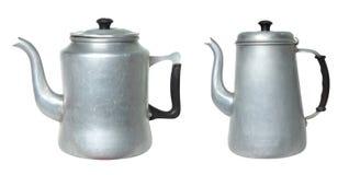 Ретро чайник 2 на белой предпосылке стоковое фото rf