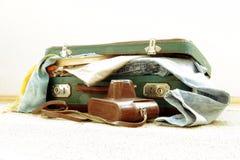 Ретро чемодан для перемещения Стоковая Фотография
