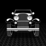 Ретро шаблон плаката автомобиля Стоковое Изображение RF