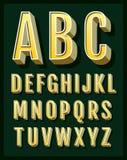 Ретро шрифт. Винтажный алфавит Стоковые Фотографии RF