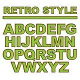 Ретро шрифт стиля, алфавит вектор Стоковые Фото