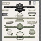 Ретро элементы вебсайта типа год сбора винограда Стоковое Изображение RF