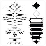 Ретро элементы дизайна Стоковые Фотографии RF