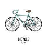 Ретро элемент изолята вектора спорта велосипеда Стоковые Фото