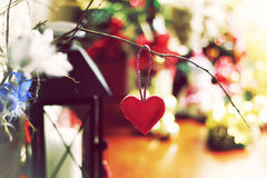 Ретро bokeh формы сердца Стоковое Фото