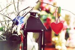 Ретро bokeh формы сердца Стоковые Фото