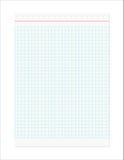 Ретро Checkered лист Стоковое Изображение