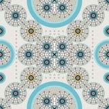 Ретро ethnic_blue иллюстрация штока