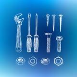 Ретро handcrafted элемент дизайна Стоковые Фотографии RF