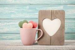 Ретро ` s валентинки стиля или ` s матери карточка дня Стоковые Изображения
