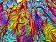 Ретро 70's продевают нитку - искусство улицы Валенсия иллюстрация вектора