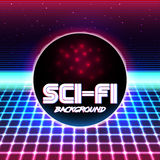 Ретро sci fi background11 Стоковое Изображение RF