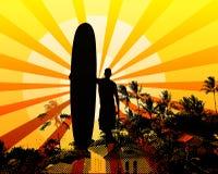 ретро surfposter Стоковая Фотография RF