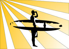 ретро surfposter Стоковые Фотографии RF