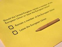 Референдум Brexit в Великобритании Стоковые Фото