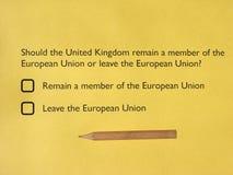Референдум Brexit в Великобритании Стоковая Фотография