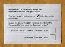 Референдум Brexit в Великобритании Стоковые Изображения RF