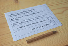 Референдум Brexit в Великобритании Стоковое фото RF