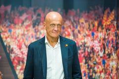 Рефери футбола Pierluigi Collina известный Стоковое Изображение