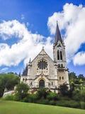 Реформированная церковь reformee du Pasquart eglise Pasquart в Biel/Bienne, Берне, Швейцарии, Европе стоковая фотография