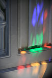 Рефракция от запятнанный glassed Стоковое Фото