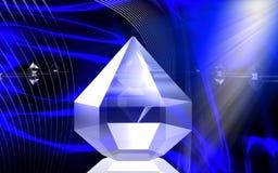 рефракция диаманта Стоковая Фотография