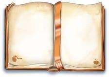 рецепты иллюстрации книги пустые иллюстрация вектора
