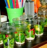 Рецепты питья плодоовощ коктеиля лета Стоковое Изображение RF